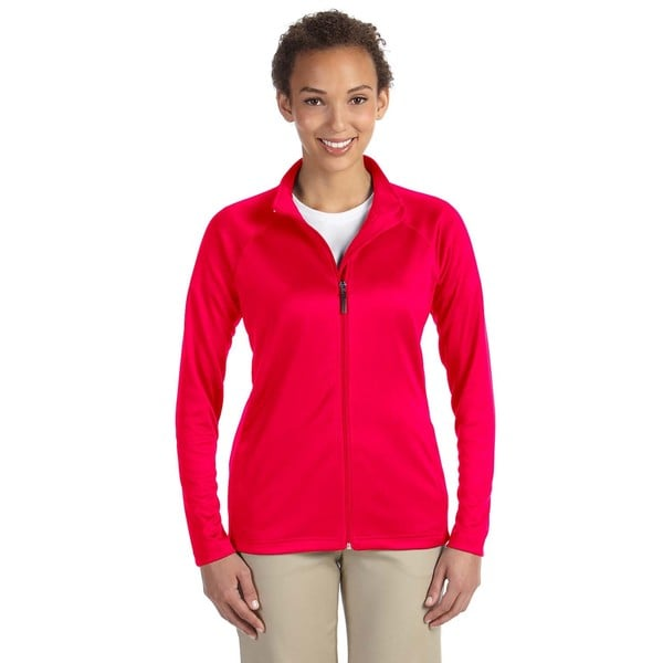 Stretch Women's Tech-Shell Compass Full-Zip Red Jacket