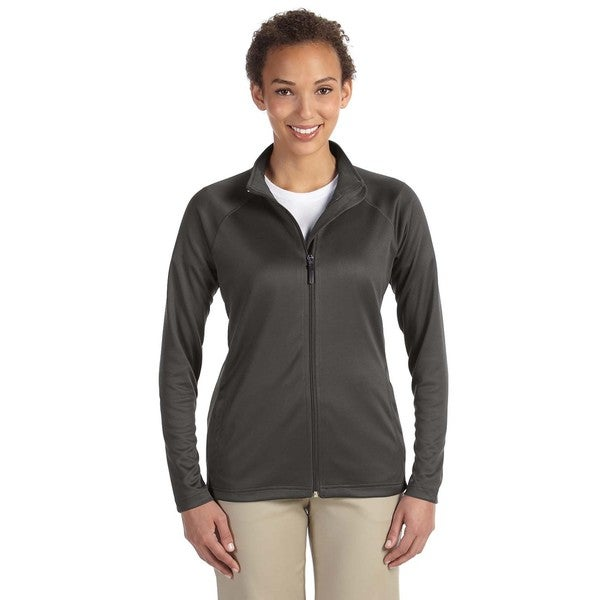 Stretch Women's Tech-Shell Compass Full-Zip Dark Grey Heather Jacket