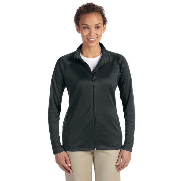 Stretch Women's Black Tech-Shell Compass Full-Zip