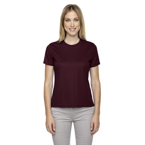 Pace Women's Performance Pique Crew Neck Burgundy 060 Shirt