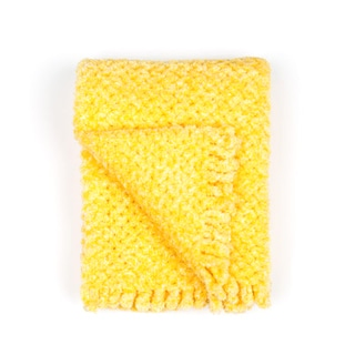 Pashmerebaby Buttercup Yellow Crisscross-pattern Baby Blanket