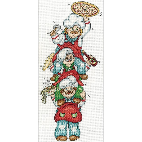 Pizza Delivery Counted Cross Stitch Kit