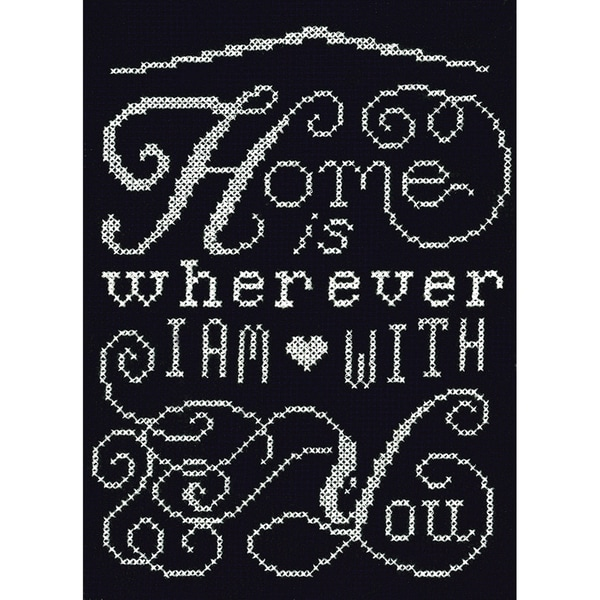 Home Chalkboard Mini Counted Cross Stitch Kit