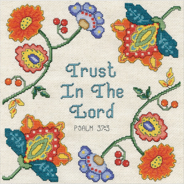 Trust Counted Cross Stitch Kit