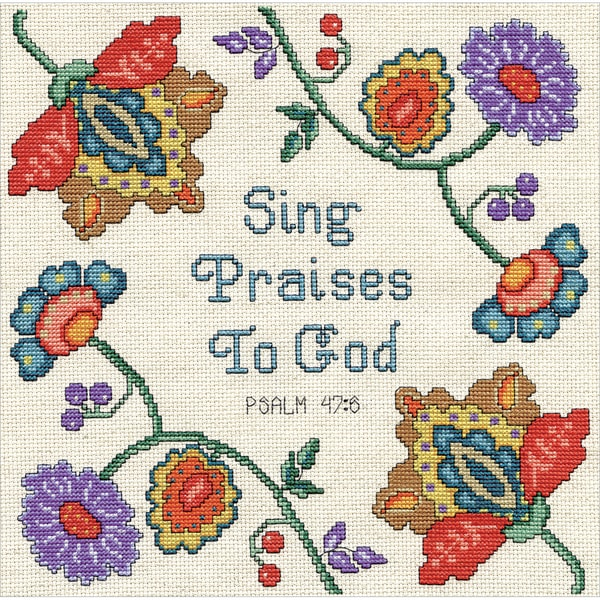 Sing Praises Counted Cross Stitch Kit