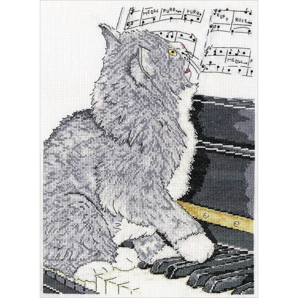 Piano Cat Counted Cross Stitch Kit 19733018
