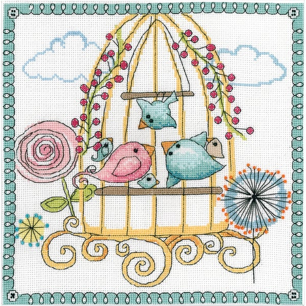 Birdcage Counted Cross Stitch Kit