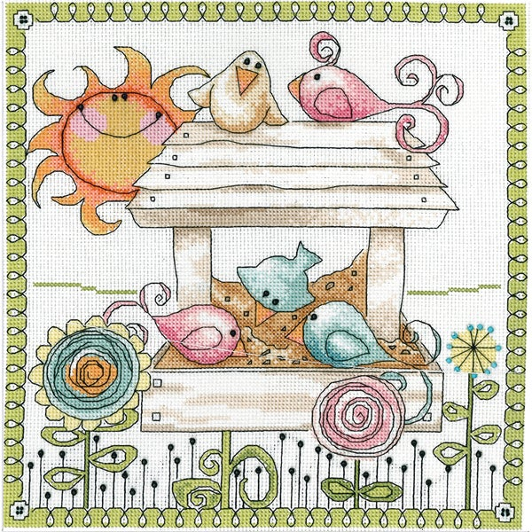 Bird Feeder Counted Cross Stitch Kit