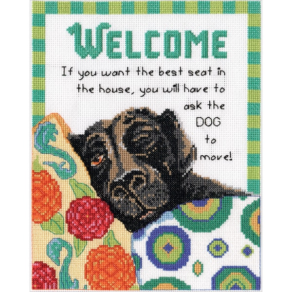Best Seat Welcome Counted Cross Stitch Kit