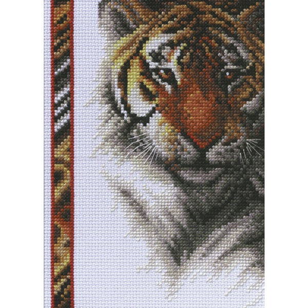Wildlife Tiger Mini Counted Cross Stitch Kit