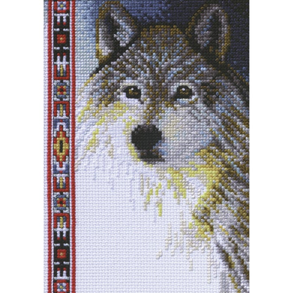 Wildlife Wolf Mini Counted Cross Stitch Kit 19733130