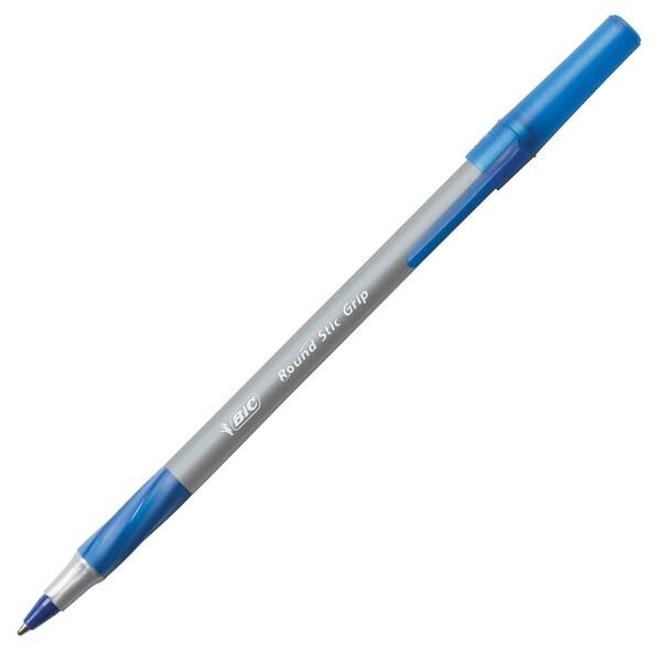 BIC Round Stick Ballpoint Pen - Blue (36/Box)