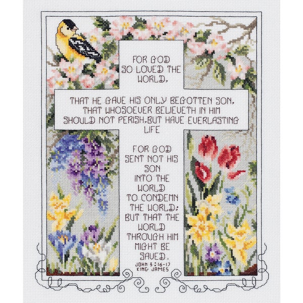 John 3:16-17 Counted Cross Stitch Kit