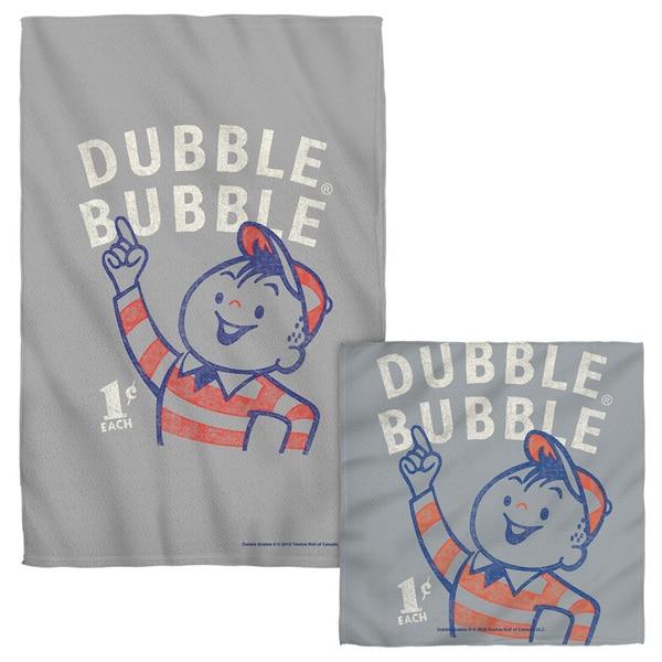 DUBBLE BUBBLE/POINTING Face/Hand Towel Combo