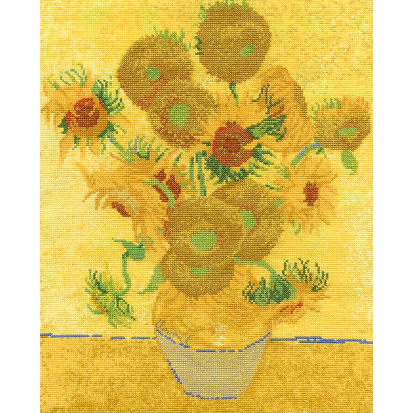 Van Gogh Sunflowers Counted Cross Stitch Kit