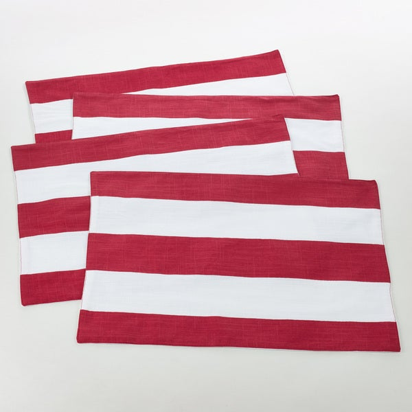 Saint John Collection Striped Design Cotton Placemat (Set of 4)