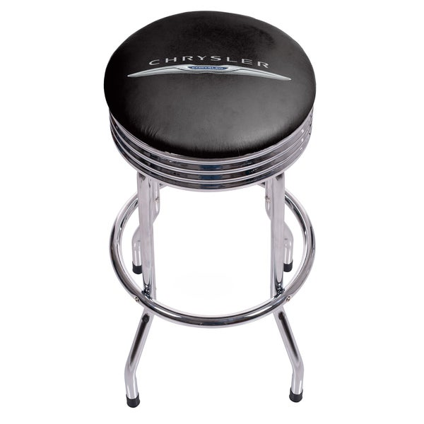 Chrysler Single Ring Ribbed Stool - Chrome 19733865