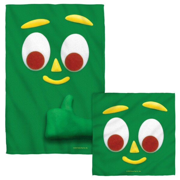 GUMBY/BIG FACE Face/Hand Towel Combo