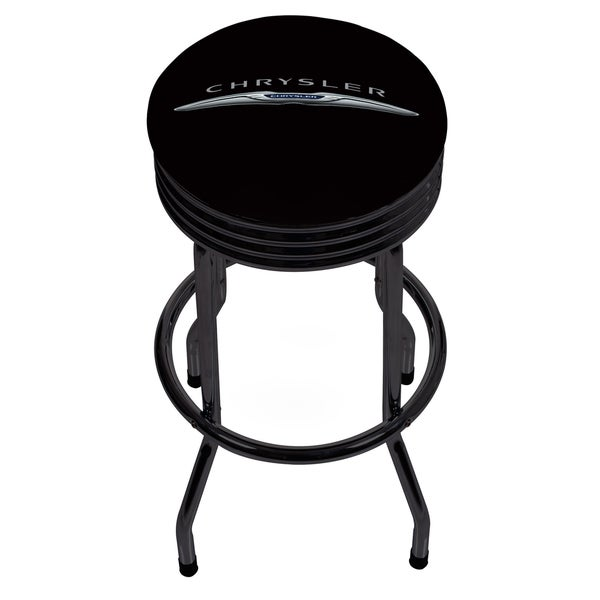Chrysler Single Ring Ribbed Stool - Black