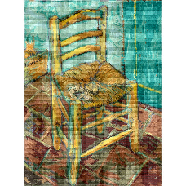 Van Gogh's Chair Counted Cross Stitch Kit