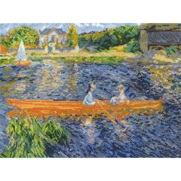 Renoir The Skiff Counted Cross Stitch Kit