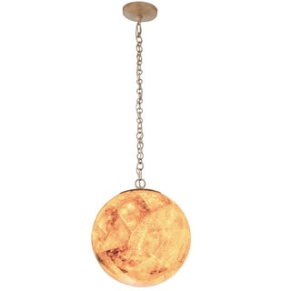 Varaluz Big 2-Light Orb Pendant with Reclaimed Champagne Shell