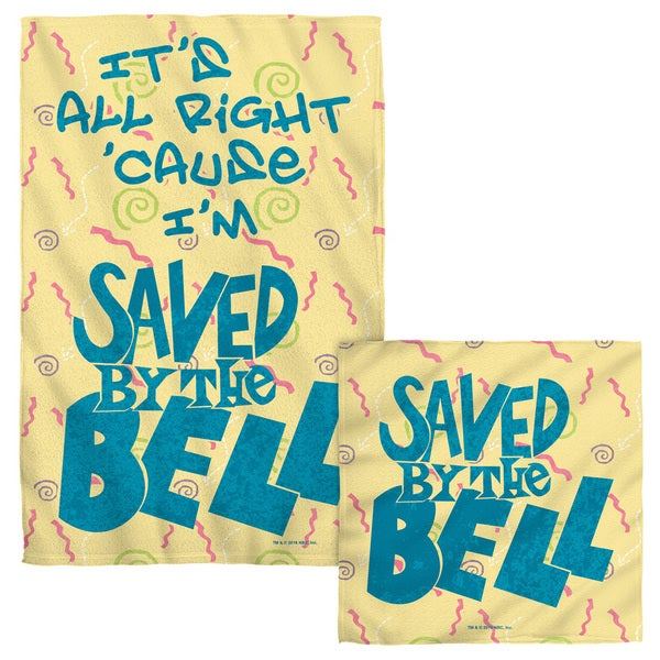 SAVED BY THE BELL/ALL RIGHT Face/Hand Towel Combo
