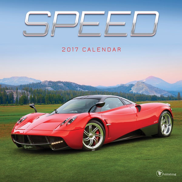 2017 Speed Multicolored Paper Wall Calendar