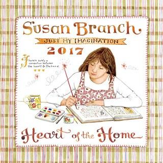 2017 Susan Branch 'Heart of The Home' Paper Wall Calendar