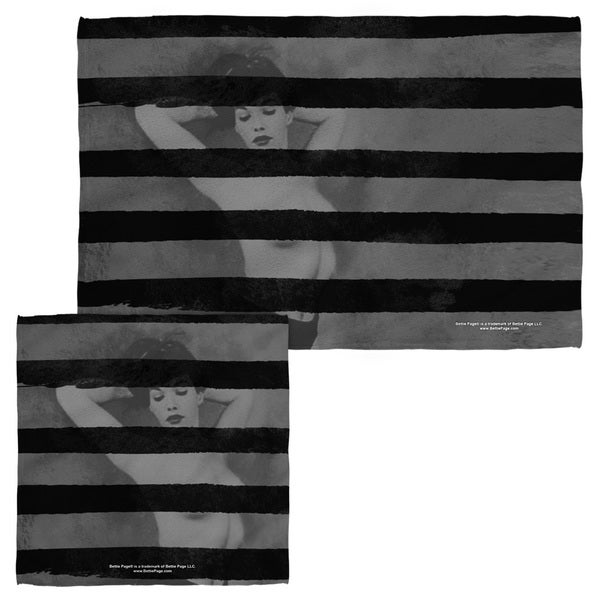 BETTIE PAGE/BLACK STRIPES Face/Hand Towel Combo 19734046