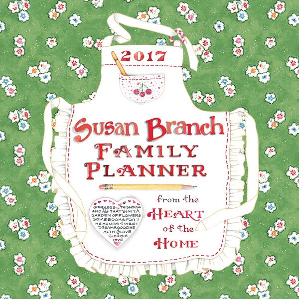2017 Susan Branch Family Planner 12-month Wall Calendar