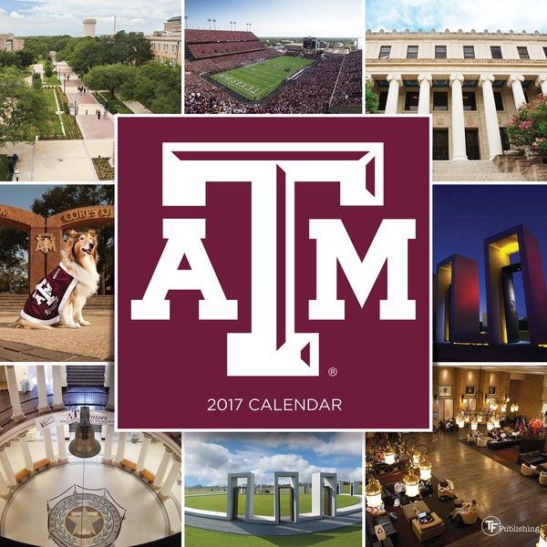 2017 Texas A&M University Wall Calendar