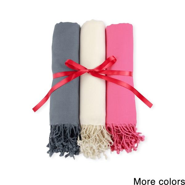Handmade Set of 3 Men's/ Women's Saachi Scarves (India) 19734242