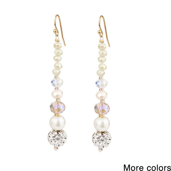 Saachi Shamballa Drop Earrings (China)