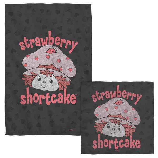 STRAWBERRY SHORTCAKE/SMILE Face/Hand Towel Combo