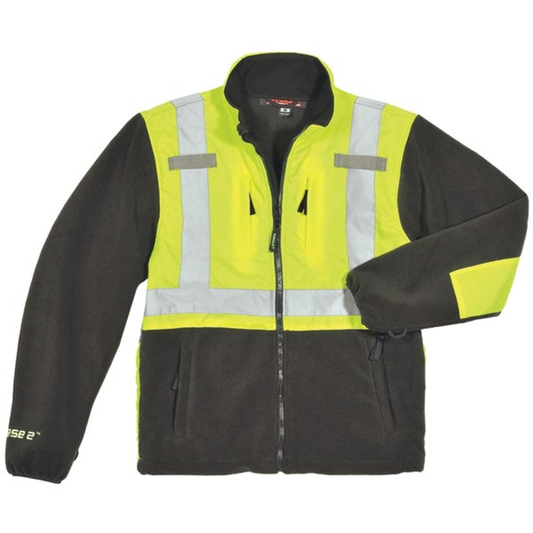 Phase 2 Men's Class 2 Fluorescent Jacket with 2-inch Silver Reflective Tape