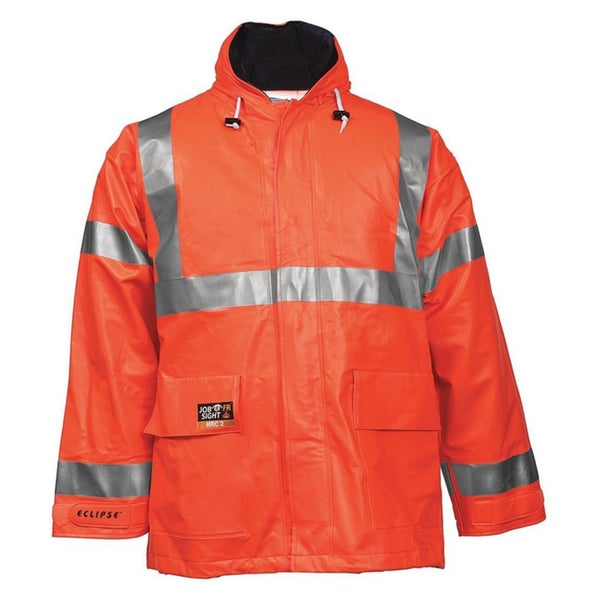 Eclipse J44129 NSI 107 Fluorescent Orange Class 3 Jacket With 2-inch Silver Reflective Tape