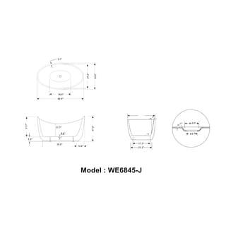 Legion Furniture 69-inch Freestanding Bathtub
