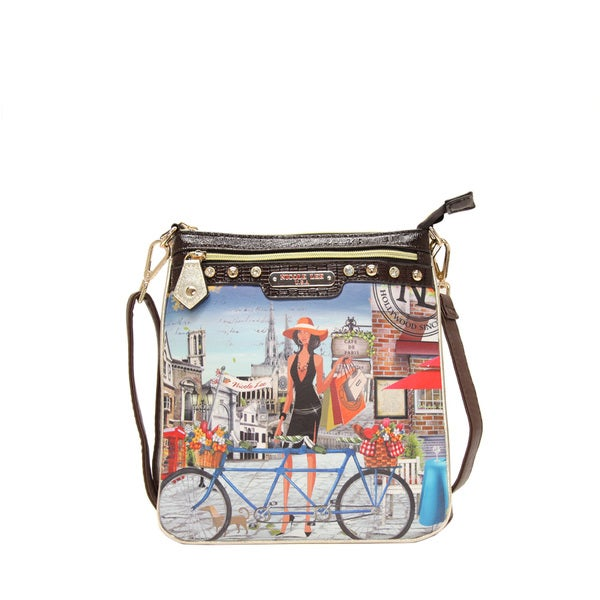 Nicole Lee Kimbriella Print Crossbody Bicycle Bag