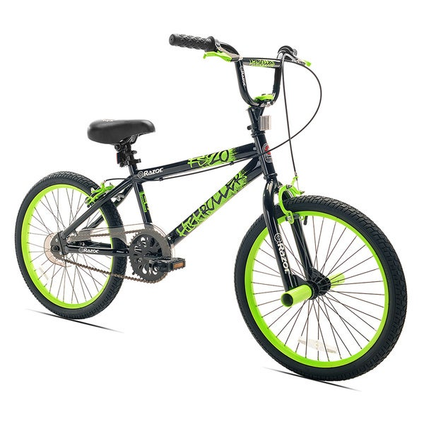 20 Boys Razor HR Bike Black Green