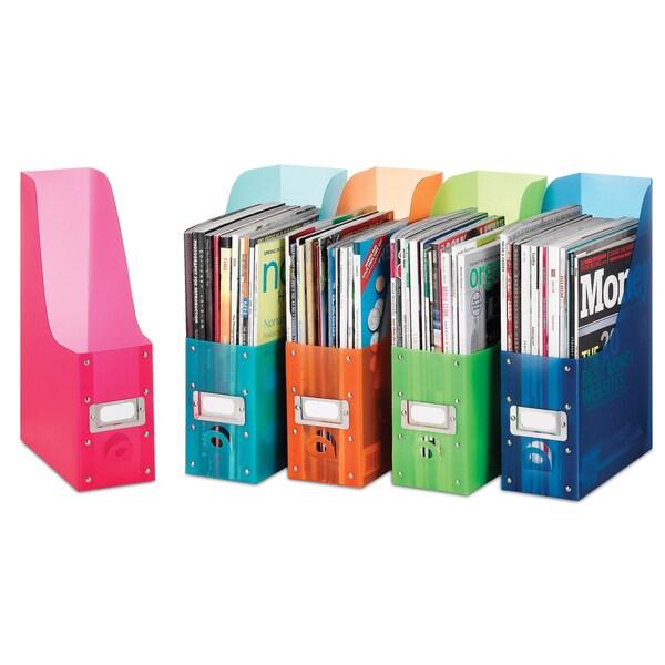 """Whitmor 6754-372-5 4"""" X 9.85"""" X 12.5"""" Plastic Magazine Organizer (Pack of 5)"""