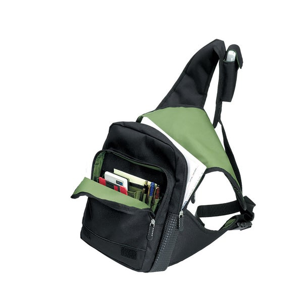 Goodhope Flash Jr. Black/Green Nylon/Polyester Body Messenger Bag