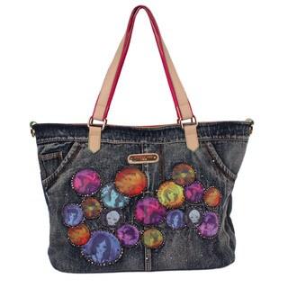 Nicole Lee Muneca Patch-print Shopper Handbag