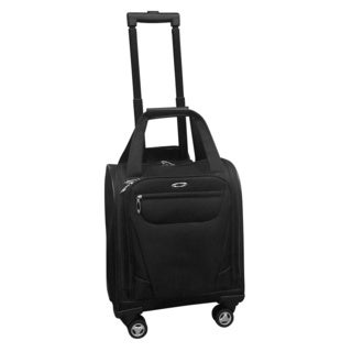 Kemyer Under Seater Black Carry-on Spinner Tote Bag