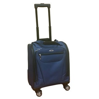 Kemyer Under Seater Navy Carry-on Spinner Tote Bag