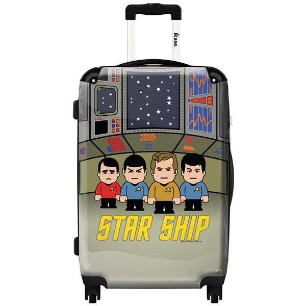 iKase 'Star Trek in Their Spaceship' 24-inch Fashion Hardside Spinner Suitcase