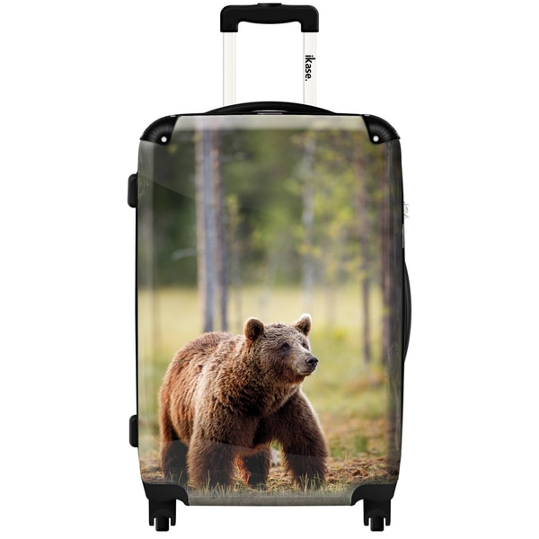 iKase 'Teddy Bear' 20-inch Fashion Hardside Carry-on Spinner Suitcase