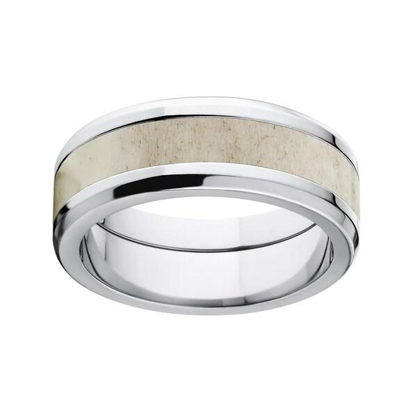 8mm Titanium Tapered Antler Ring