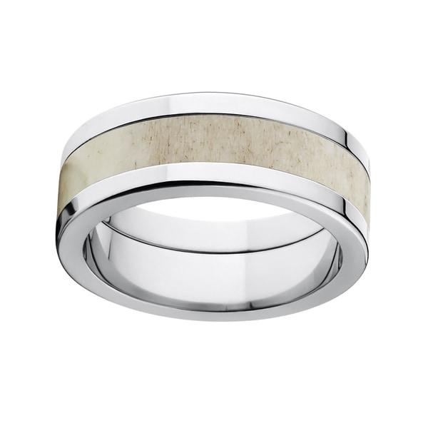 Titanium Deer Antler Ring