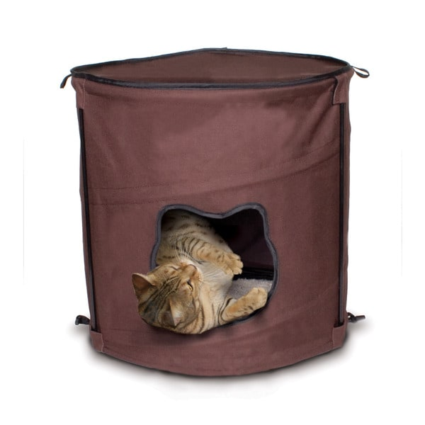 Ware Kitty Brown Canvas Pop-up Condo